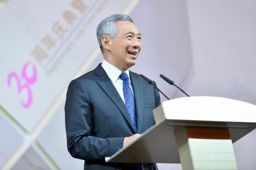 Public Speaking Photography of Singapore Prime minister Lee Hsien Loong
